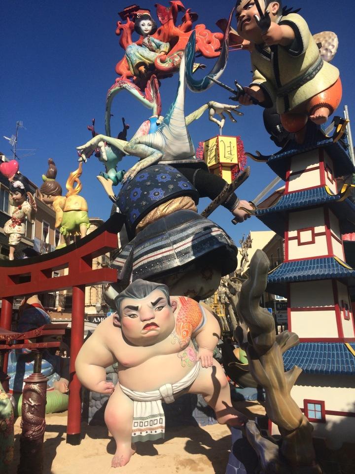 las fallas festival dénia spain 2017
