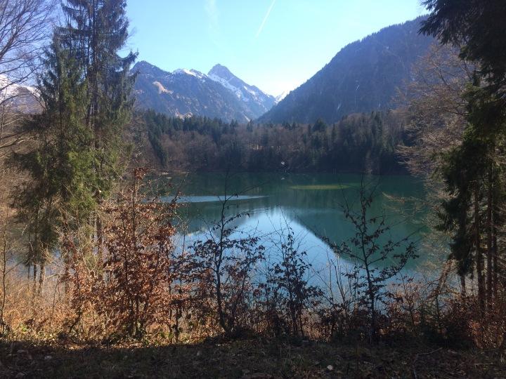 bavarian alps lake oberstdorf